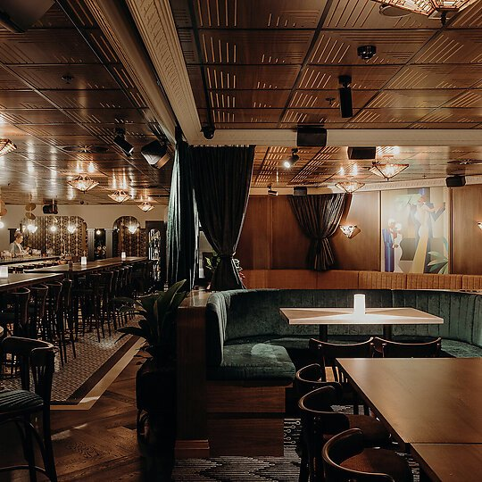 Interior photograph of Nick and Nora's Melbourne by Brook James