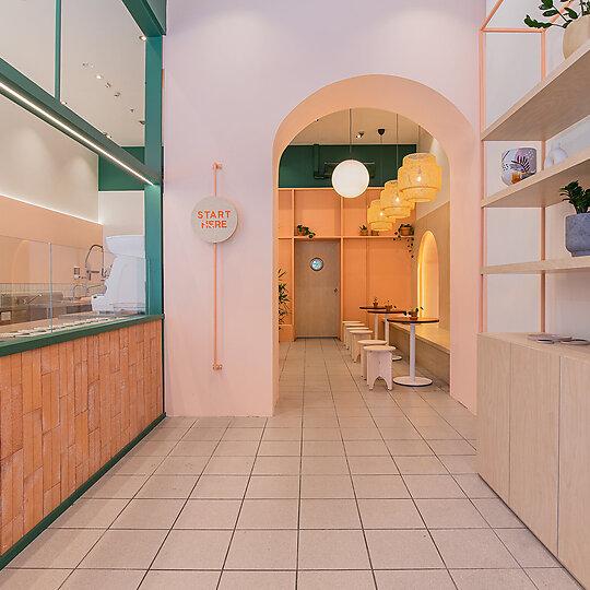Interior photograph of Sushi Burri by Nhan Tran