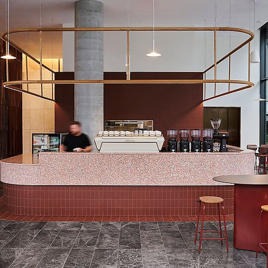 Interior photograph of ARC Coffee by Pew Pew Studio