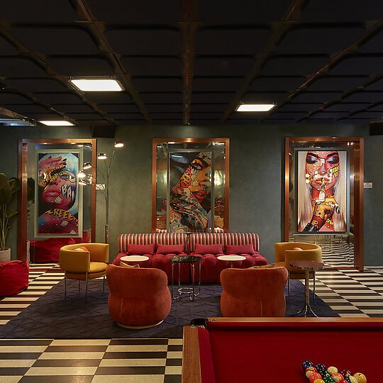 Interior photograph of Ovolo South Yarra Hotel by Sean Fennessy