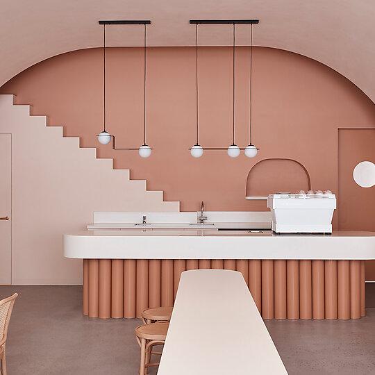 Interior photograph of The Budapest Café by Derek Swalwell