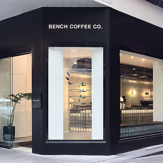 Interior photograph of Bench Coffee Co. by Nick Chen